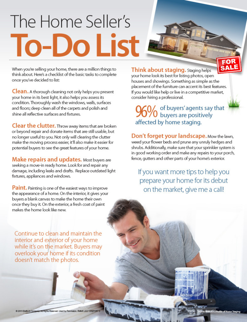 The Home Seller's To-Do List