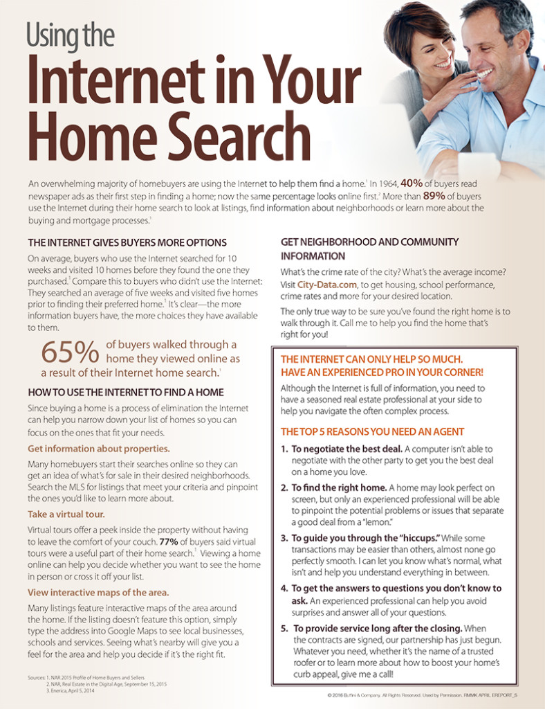 Using the Internet in Your Home Search